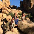 Laeticia et Johnny Hallyday ont fait un road trip à travers le grand ouest américain avec leurs filles Jade et Joy en avril 2015 - photo du Joshua Tree National Park