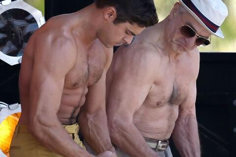 Zac Efron et son 'Dirty Grandpa' Robert de Niro : Torse nu, duel de muscles