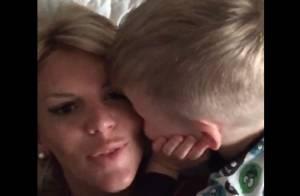 Amélie Neten : Câlins, jeu et tendre déclaration d'amour de son fils Hugo