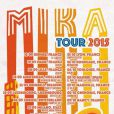 Mika en tournée en 2015.