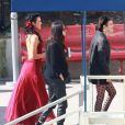"Demi Moore et ses filles Rumer Willis et Tallulah Willis - People à l'enregistrement de ""Dancing With The Stars"" à Hollywood, le 4 mai 2015."