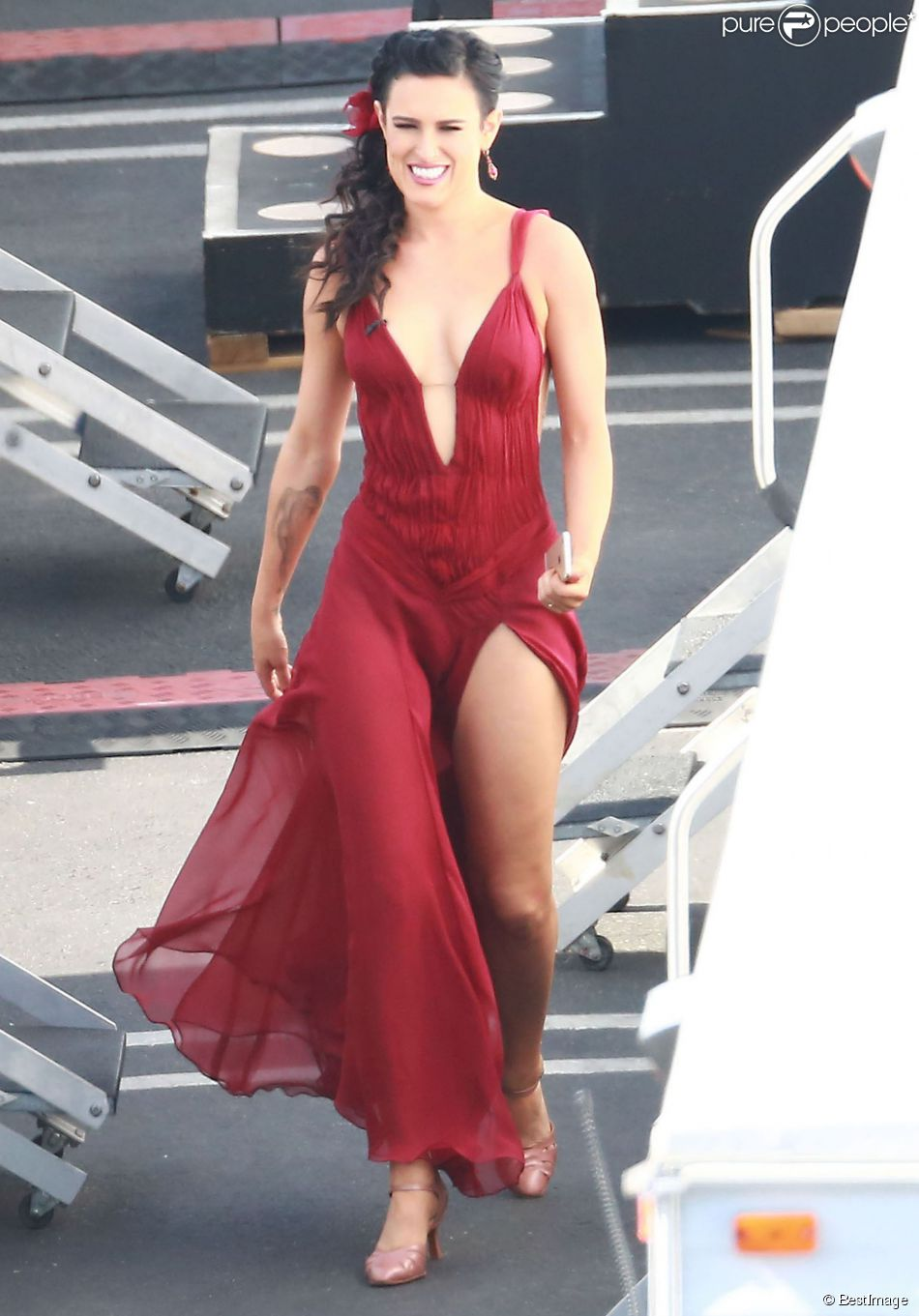 "Rumer Willis - People à l'enregistrement de ""Dancing With The Stars"" à Hollywood, le 4 mai 2015."