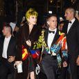 Katy Perry et Jeremy Scott arrivent à l'Up & Down pour la soirée post-Met Gala de Rihanna. New York, le 5 mai 2015.