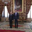 Le roi Felipe VI d'Espagne accueillait le 11 mai 2015 au palais royal le nouveau président italien Sergio Mattarella à l'occasion de sa première visite en Espagne. Son épouse la reine Letizia s'est jointe a lui et un déjeuner a été offert en l'honneur de leur hôte.