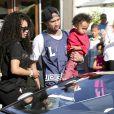 Blac Chyna, Tyga et leur fils King Cairo à Calabasas. Mars 2014.