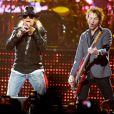Axl Rose, le leader de Guns N' Roses, en concert au New Jersey, le 17 novembre 2011.