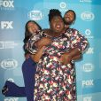 """Taraji P. Henson, Gabourey Sidibe et Jussie Smollett de la série """"Empire"""" à la soirée """"2015 FOX upfront presentation"""" à New York, le 11 mai 2015"""