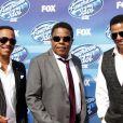 "Tito Jackson, Jackie Jackson, Marlon Jackson à la soirée ""American Idol"" à Hollywood, le 13 mai 2015"