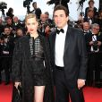 "Melissa George et son compagnon Jean-David Blanc - Montée des marches du film ""Irrational Man"" (L'homme irrationnel) lors du 68e Festival International du Film de Cannes, à Cannes le 15 mai 2015."