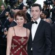 """Elizabeth Bourgine et son fils Jules - Montée des marches du film """"Irrational Man"""" (L'homme irrationnel) lors du 68e Festival International du Film de Cannes, à Cannes le 15 mai 2015."""
