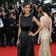 "Sonia Rolland (robe Rabih Kayrouz) - Montée des marches du film ""Irrational Man"" (L'homme irrationnel) lors du 68e Festival International du Film de Cannes, à Cannes le 15 mai 2015."