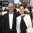 """Isabelle Giordano et guest - Montée des marches du film """"Irrational Man"""" (L'homme irrationnel) lors du 68e Festival International du Film de Cannes, à Cannes le 15 mai 2015."""
