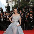 """Li Bingbing (robe Zuhair Murad) - Montée des marches du film """"The Sea of Trees"""" (La Forêt des Songes) lors du 68e Festival International du Film de Cannes, le 16 mai 2015."""