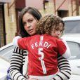 Rebecca Ellison, la femme de Rio Ferdinand, à Manchester le 9 mai 2010.