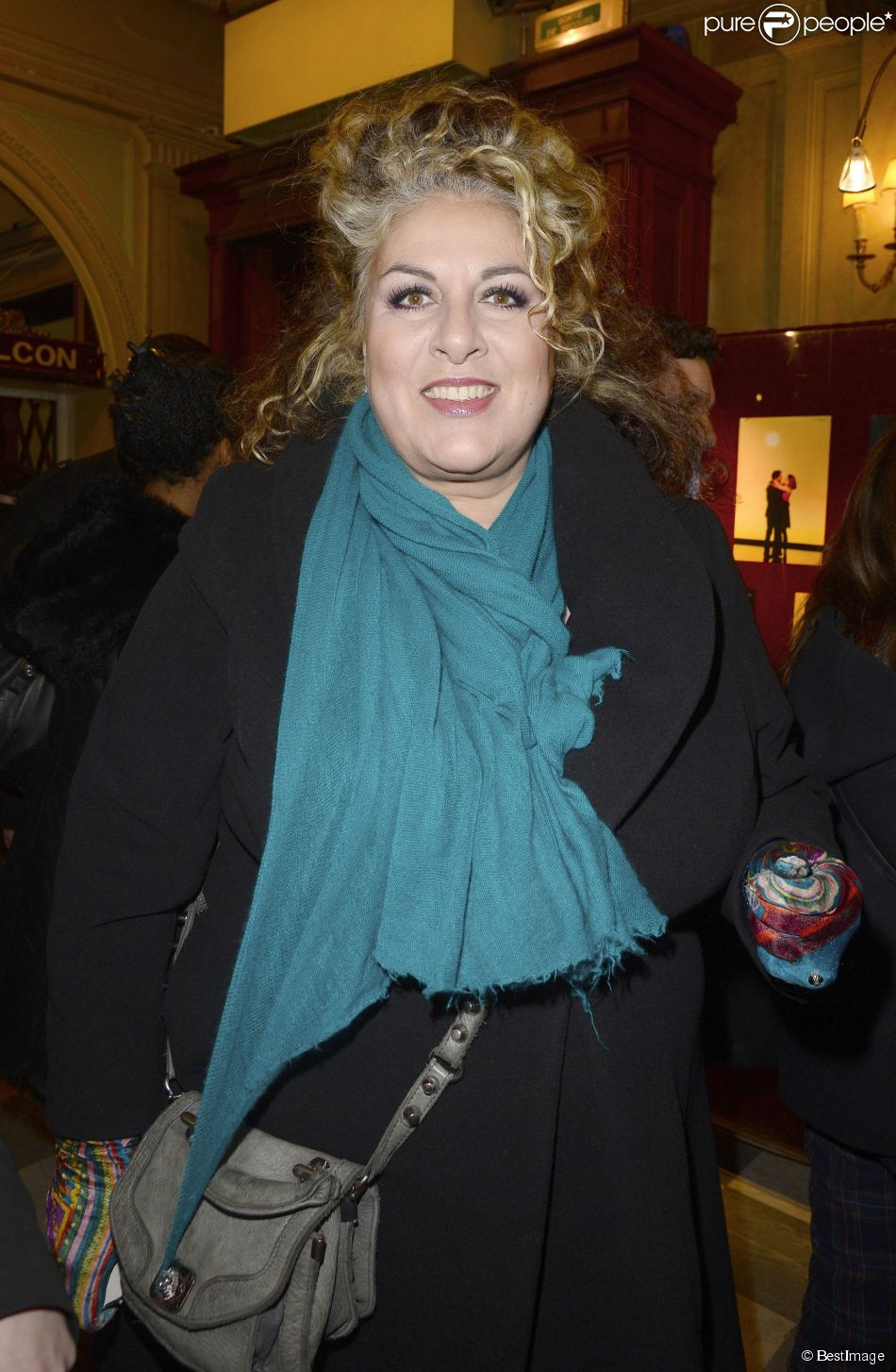 Marianne James - Générale de la pièce  La porte à côté  au Théâtre Édouard VII à Paris, le 10 fevrier 2014.