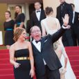 """Amy Poelher, John Lasseter - Montée des marches du film """"Inside Out"""" (Vice-Versa) lors du 68e Festival International du Film de Cannes, le 18 mai 2015."""