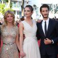 """Mélanie Laurent, Charlotte Le Bon, Pierre Niney - Montée des marches du film """"Inside Out"""" (Vice-Versa) lors du 68e Festival International du Film de Cannes, le 18 mai 2015."""