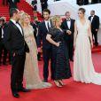 """Gilles Lellouche, Mélanie Laurent, Pierre Niney, Marilou Berry, Charlotte Le Bon - Montée des marches du film """"Inside Out"""" (Vice-Versa) lors du 68e Festival International du Film de Cannes, le 18 mai 2015."""