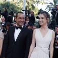 """Gilles Lellouche, Charlotte Le Bon - Montée des marches du film """"Inside Out"""" (Vice-Versa) lors du 68e Festival International du Film de Cannes, le 18 mai 2015."""