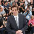 "Benicio del Toro - Photocall du film ""Sicario"" lors du 68e festival international du film de Cannes le 19 mai 2015."