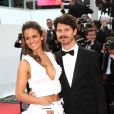 """Lucie Lucas et Gabe Klinger - Montée des marches du film """"Sicario"""" lors du 68e Festival International du Film de Cannes le 19 mai 2015."""