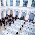 La princesse Mary et le prince Frederik de Danemark ont achevé la première journée de leur visite officielle en Allemagne, le 19 mai 2015, par un dîner officiel à la Chambre de Commerce de Hambourg