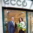 Le prince Frederik et la princesse Mary de Danemark inaugurent une boutique Ecco à Munich le 20 mai 2015