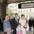 La princesse Mary et le prince Frederik de Danemark visitent le Löwenbräukeller à Munich, à l'occasion de leur voyage officiel en Allemagne. Le 21 mai 2015