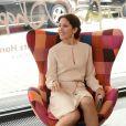 Le prince Frederik et la princesse Mary de Danemark inauguraient le 21 mai 2015 une exposition de mobilier design d'Arne Jacobsen à Munich, dans le cadre de leur visite officielle de trois jours