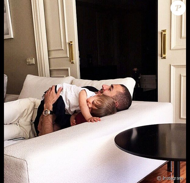 Karim Benzema et sa fille Mélia le 21 mai 2015