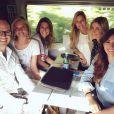 Les ex-Miss France accompagnées de Sylvie Tellier et l'actuelle Miss Camille Cerf, se rendent sur le tournage de  Fort Boyard , les 18 et 19 mai 2015.