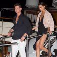 Robin Thicke et sa compagne April Love Geary à Cannes, le 20 mai 2015.