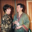 Anny Duperey et Bernard Giraudeau à Paris, le 25 février 1997.