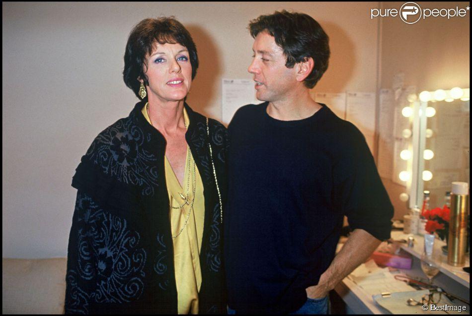 Anny Duperey et Bernard Giraudeau à Paris, le 6 novembre 1992.