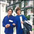 Anny Duperey et Bernard Giraudeau à Paris, le 16 septembre 1985.