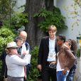 Marie-José Pérec et sa fille - People au village des Internationaux de France de tennis de Roland Garros à Paris le 29 mai 2015.