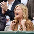 """"""" Michèle Laroque à Roland-Garros à Paris le 29 mai 2015. """""""