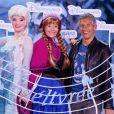 L'animateur Nagui et sa femme Mélanie Page participent au lancement de la Fête Givrée à Disneyland Paris, à Marne-la-Vallée, le 30 mai 2015.