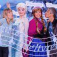 Nagui et sa femme Mélanie Page participent au lancement de la Fête Givrée à Disneyland Paris, à Marne-la-Vallée, le 30 mai 2015.