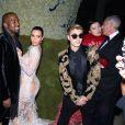 Justin Bieber, Kim Kardashian et Kanye West au Met Gala à New York, le 4 mai 2015.