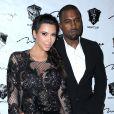 Kim Kardashian, enceinte, et Kanye West à New York, le 31 décembre 2012.