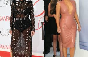 Kim Kardashian, enceinte : Après la robe transparente, elle s'habille de latex !