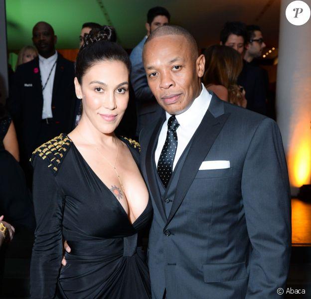 Nicole Young et Dr. Dre (Andre Young) à New York. Novembre 2014.