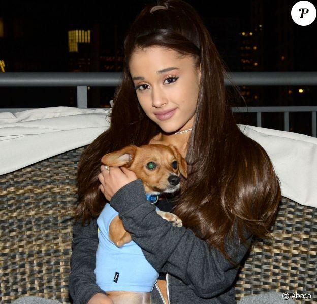 Ariana Grande s'associe à BarkBox et un refuge pour chien de Brooklyn, le 19 mars 2015 à New York