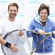 Christophe Michalak et Jean Imbert lors de la deuxième journée du Trophée des personnalités à Roland-Garros, le mercredi 3 juin 2015.