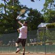 Cyril Hanouna lors de la troisième journée du Trophée des personnalités à Roland-Garros, le jeudi 4 juin 2015.