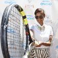 Sonia Rolland lors de la troisième journée du Trophée des personnalités à Roland-Garros, le jeudi 4 juin 2015.