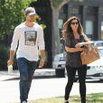 Maria Shriver et son fils Patrick Schwarzenegger sont allés déjeuner ensemble à Brentwood, le 28 mai 2015