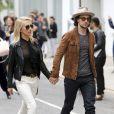 Sam Taylor-Johnson et son mari Aaron Taylor-Johnson - Arrivées des people pour la présentation de la collection Gucci Cruise 2015 à New York le 4 juin 2015  The Gucci Cruise 2015 collection runway show in New York, on June 4th 2015.04/06/2015 - New York
