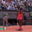 Serena Williams lors de la finale dames de Roland-Garros (S. Williams / L. Safarova), à Paris, le samedi 6 juin 2015.